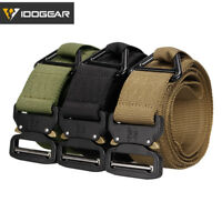 "IDOGEAR 1.75"" Tactical Belt Quick Release EDC Riggers Belt CQB Military Airsoft"