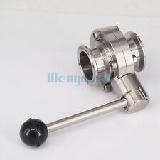 "1-1/2"" 38mm SUS304 Sanitary 1.5"" Tri Clamp Butterfly Valve For Beer Homebrew"