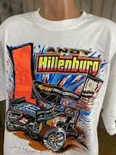 VINTAGE VTG Sprint Car White T Shirt XXXL ANDY HILLENBURG  DOUBLE SIDED