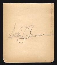 1954 ST. LOUIS CARDINALS BASEBALL PLAYER AUTOGRAPH - SOLLY HEMUS