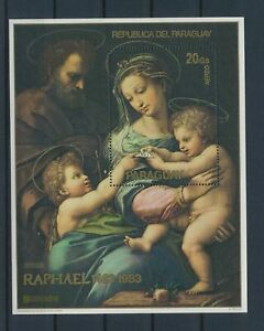 LN22512 Paraguay 1983 Raphael art paintings good sheet MNH
