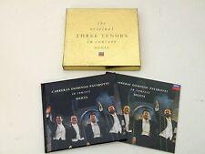 THE ORIGINAL THREE TENORS IN CONCERT - BOX CD MEHTA LIMITED EDITION DECCA 1990