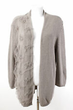 Bottega Strickjacke Gr. 44 / 2XL Cardigan Strick mit Stickerei