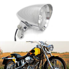 "Chrome 4.7"" Bullet Headlight For Harley Sportster XL Dyna Softail Chopper Bobber"