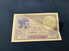 5 Francs Violet - 13/2/1918 A.786 204 SPL - Type 1917 cote 150 euro