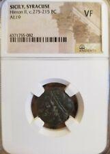 Sicily, Syracuse Hieron II AE19 NGC VF Ancient Coin