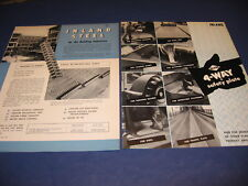 1950's Inland Steel Catalog 2 Lot Buildings Safety Plate Re-Bars