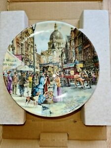 """!!!Davenport Pottery Plate """"The Flower Seller""""1990 limited edition!!!"""