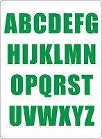 Set 26x aufkleber sticker buchstabe alphabet mulleimer tur grun