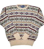 Vintage Polo Ralph Lauren Mens Silk Blend Sweater Size L Fair Isle Pullover