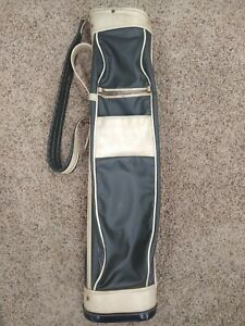 Vintage Atlantic Golf Carry Bag Golf All Leather - See pictures!