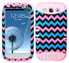 KoolKase Hybrid Silicone Cover Case for Samsung Galaxy S3 - Chevron Wave 29