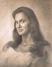 "Hendrickson Original Photo Sepia PORTRAIT OF PRETTY OLDER BRUNETTE WOMAN 11x14"""