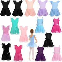 Toddler Girls Gymnastics Leotard Tutu Dress Kids Ballet Dance Dancewear Skirt