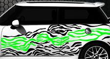 Zebra Pixel Cyber Mimetico Set XXL Adesivo Decalcomania Auto Messa punto