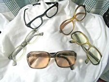 5 Pair of Vintage Eye Glasses For Wear Light Prescription Lenses Named Brands