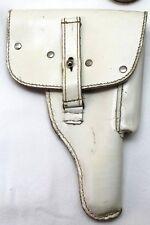 German P1 / P38 white leather holster slides onto belt each E4525
