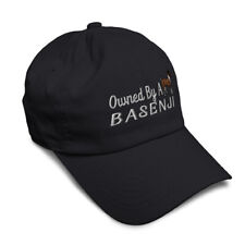 Soft Women Baseball Cap Owned by A Basenji Embroidery Pets Dad Hats for Men