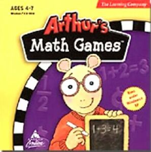 Arthurs Math Games Pc New XP Cd Rom Only In Paper Sleeve XP Ages 4 to 7