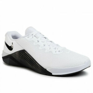 Nike Metcon 5 Men's Gym Weight Lifting Trainers Shoes White Black