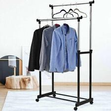 Stand Appendiabiti doppio con Ruote Stender regolabile in altezza 80x40x160 cm