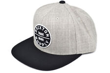 BRIXTON OATH III SNAPBACK CAP HEATHER GREY BLACK AUTHENTIC - IMPORTED FROM USA