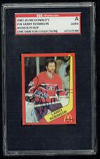 Larry Robinson #34 signed autograph auto 1982-83 McDonald's Card SGC Authentic