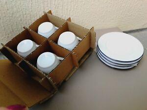 Service de table ensemble tasses à café et sous-coupes
