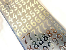 Small Shiny Silver Sticky Adhesive Numbers 0-9, Labels Stickers for Craft WD-35