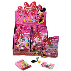 6 x Disney Minnie Mouse Pocket Lock - It  Series 1 Girls Party Bag Fillers