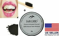 Charcoal Teeth Whitening Powder + Toothbrush -Remove Stain- 2in1 Kit -Jargod