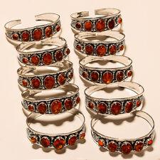 Wonderfull Amber Lot Silver Plated Gemstone Cuff Bracelet Jewellery E2961
