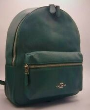 NWT Coach Medium Charlie Leather Backpack Color Sv/Dark Turquoise