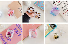 Leaf Flower Leopard Cute Girl Glossy Protective Case Cover Skin For Airpods 1&2