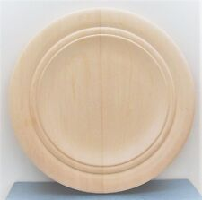 "10"" UNFINISHED WOOD db rim ROUND PLATE tole paint stencil woodburn carve UNUSEDa"