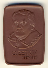 DDR - Clara Zetkin - 1857-1933 - PORZELLAN - ANSCHAUEN (11346/1264N)