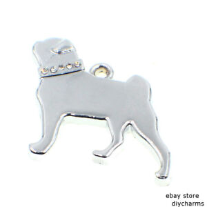 Sliver Dog Hang Pendant Jewelry Charms with Lobster Casp For Keychain pet Collar