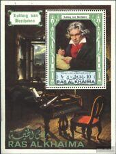 Ras al Chaima Bloque 114a (edición completa) nuevo 1972 L.V. BeethoVen