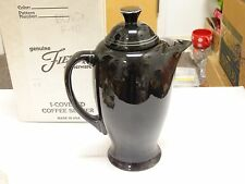 New Boxed  HLC Fiesta  Retired Color and Style Covered Coffee Server Black F 101