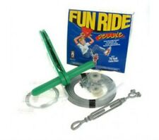 Fun Ride Flying Fox- DELUXE 21m zipline playg equipment zip wire swing 102kg