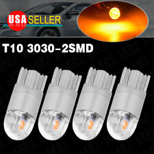 4X T10 3030LED Amber/Yellow High Power Dome Map Interior Light Bulb 192 194 2825