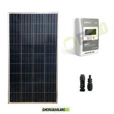 Kit Starter Pannello Solare Fotovoltaico 150W 12V Regolatore di carica 10A MPPT
