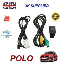 For VW Polo USB Aux Switch socket CD510 310 300 RNS315 NAV 238 268MF Adapter