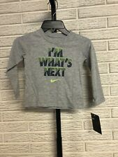 Nike little boys toddler tee shirt stretch gray soft sz 2T NEW $20 #O248