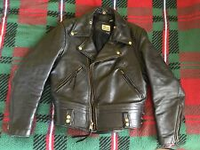CHP Leather Motorcycle Jacket - size 36 Just Leather - San Jose  80's