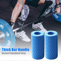 Barbell Dumbbell Grips Kettlebell Grip Bar Handles Silicon Anti-Slip Protect  YK