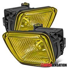Fit 96-98 Honda Civic Yellow Bumper Fog Lights w/ Switch Wiring Bulb
