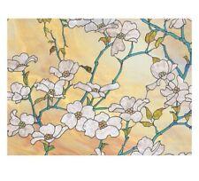 "Dogwood Premium Window Film Removable Textured Flower Design Home Decor 47""x24"""