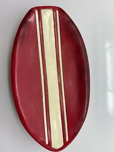 (#1) Surf's Up Surf Board Hawaii Beach red resin surfboard on wave soap dish