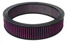 """14""""x 4"""" Round Washable / Reusable Air Filter Pro Street Rod Hot Rod Air Cleaner"""